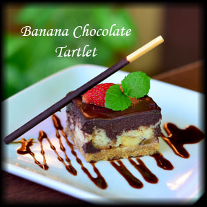 Banana Chocolate Tartlet