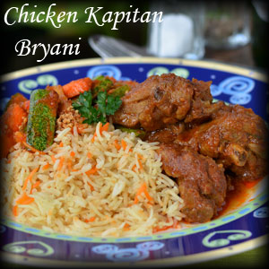 Chicken Kapitan Bryani